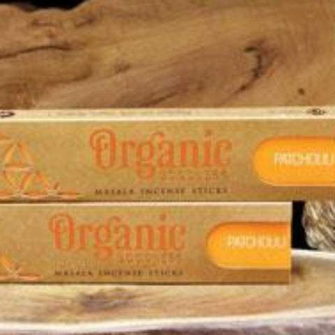 Patchouli incense sticks in box