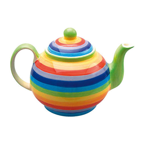 Small rainbow painted teapot