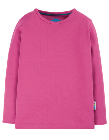 Long Sleeve tee in a fabulous pink (foxglove) colour