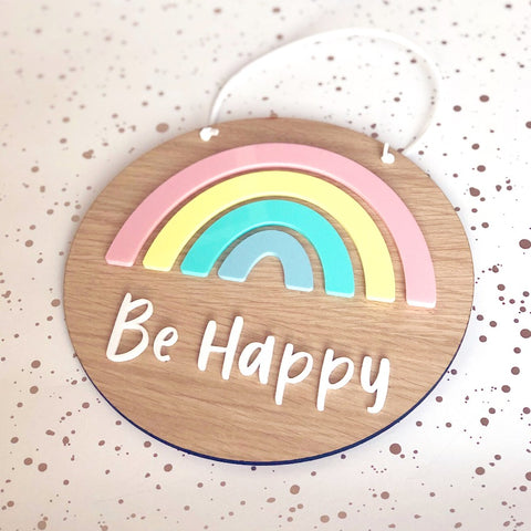 Rainbow Plaque - Pastel