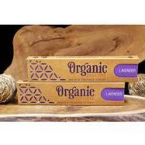 Box of lavender incense