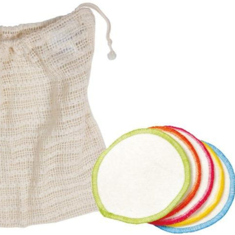 washable face pads and bag