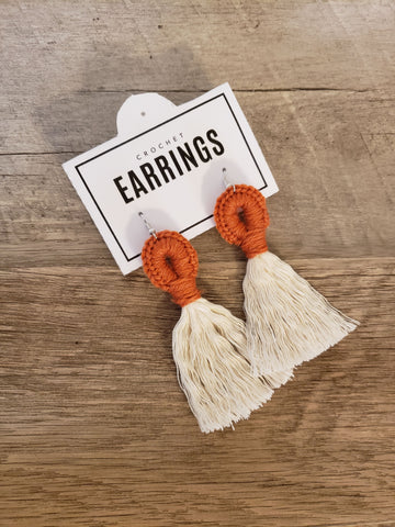 Boho Loop Earrings - Pumpkin