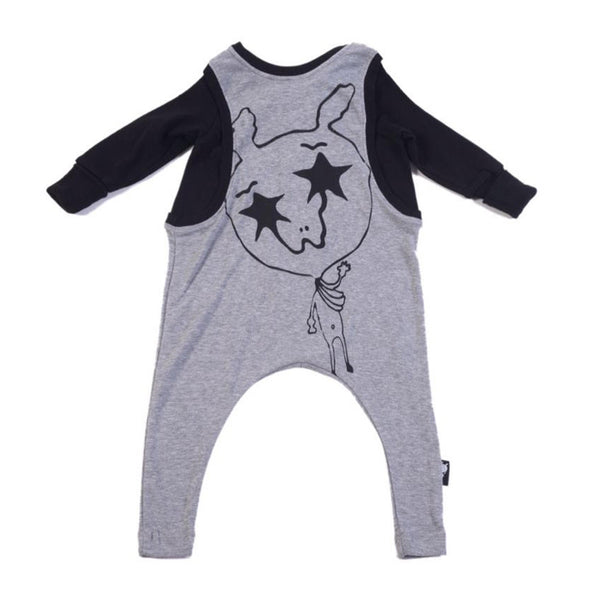 Freddy BiB Baby Gray Unisex Playsuit - Go Tell Mama