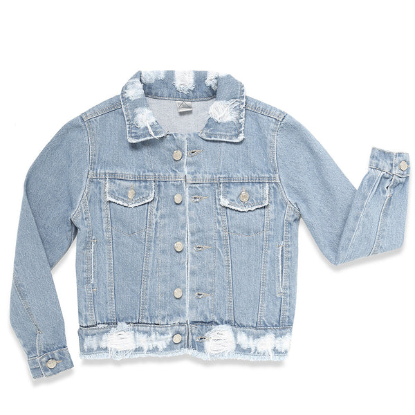 Nasha Kids Girls Stardust Denim Jacket