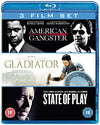 American Gangster/Gladiator/State Of Play  [Region Free] Blu-ray