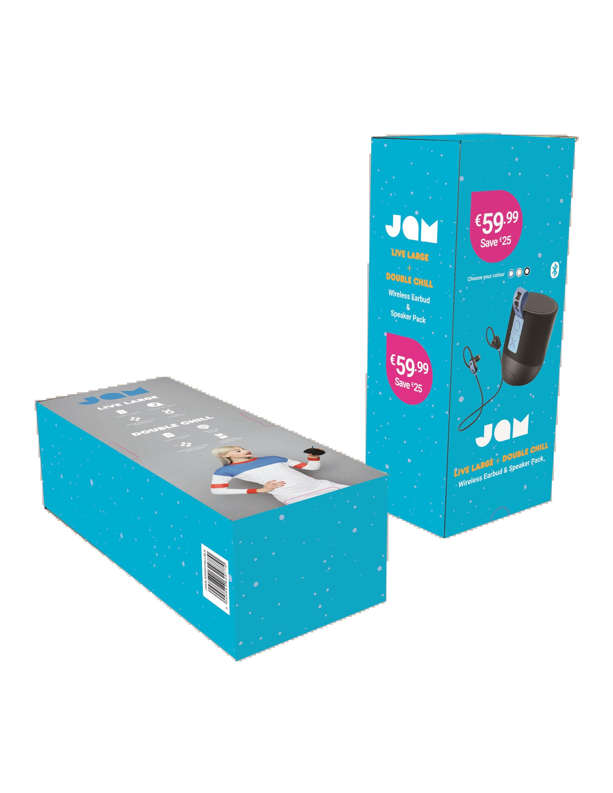 Jam Live Large Wireless Ear Bud & Double Chill Bluetooth