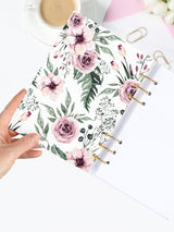 A5 Refillable Floral Weekly Planner 2021 - Flower Bullet Journal - 2