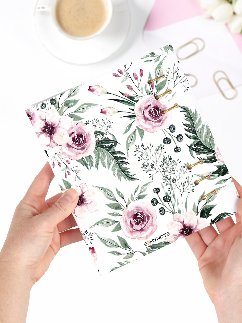 A5 Refillable Floral Weekly Planner 2021 - Flower Bullet Journal - 8