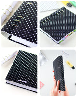 Black White Polka Dots Binder Planner