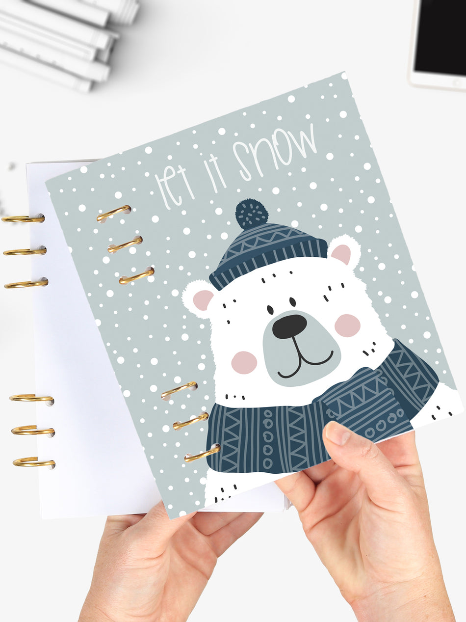 Cute A5 Winter Notebook - Icebear Binder Planner 2021 - 1