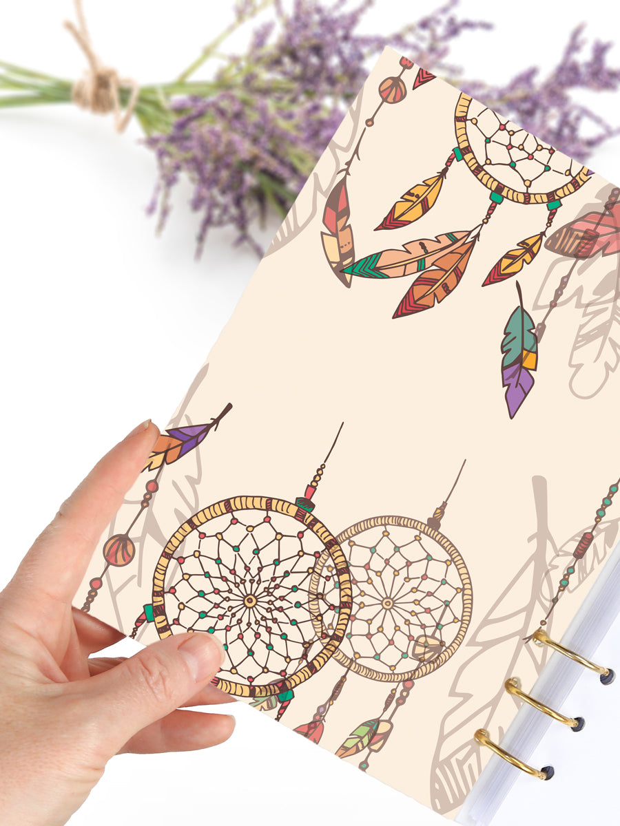 Boho Refillable A5 Writing Journal - Handmade Weekly Planner 2021 - 2