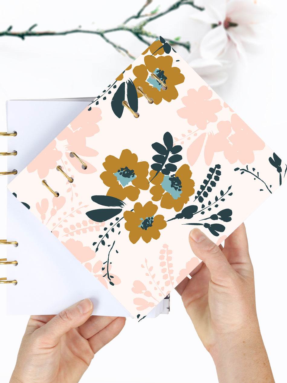 Custom Floral Notebook A5 - 2021 Printed Weekly Planner - 1