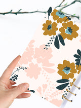 Custom Floral Notebook A5 - 2021 Printed Weekly Planner - 2