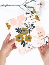 Custom Floral Notebook A5 - 2021 Printed Weekly Planner - 10