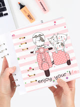 Happy Cat Binder Planner 2021 - Cute Refillable A5 Notebook - 1