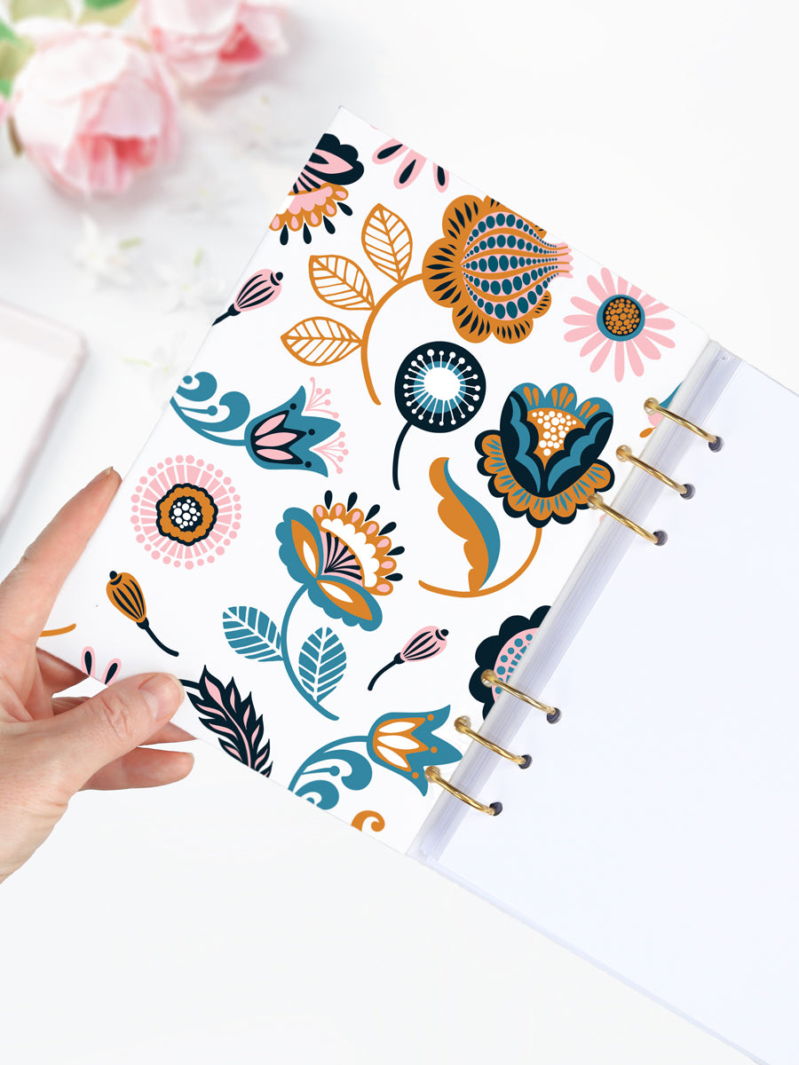 A5 Floral Binder Notebook