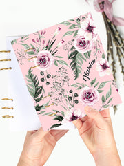 Personalized Floral Binder Planner 2021 - A5 Notebook with Name - 1