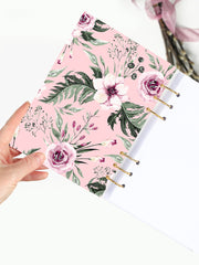 Personalized Floral Binder Planner 2021 - A5 Notebook with Name - 2