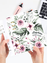Personalized A5 Floral Journal