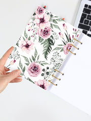 Personalized A5 Floral Journal - Flower Patterned Binder Planner 2021 - 2