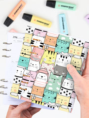 Funny Cat Lover A5 Notebook - 2021 Ring Planner For Teens - 1