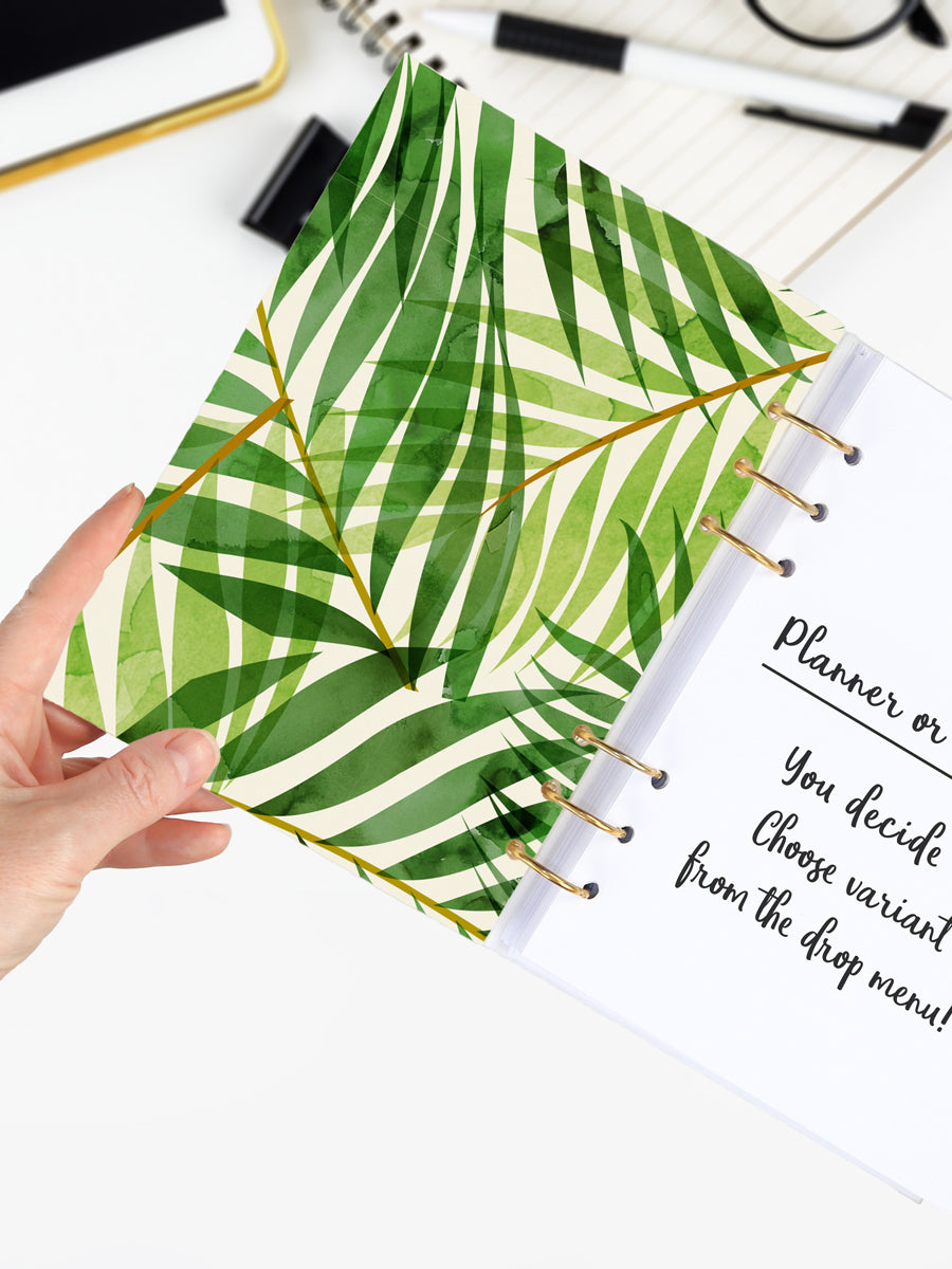 Palm Leaf Binder Planner 2021