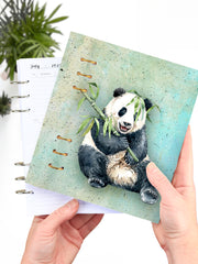 Cute Panda Binder Planner 2021 - Panda Lover Gift Notebook - 1
