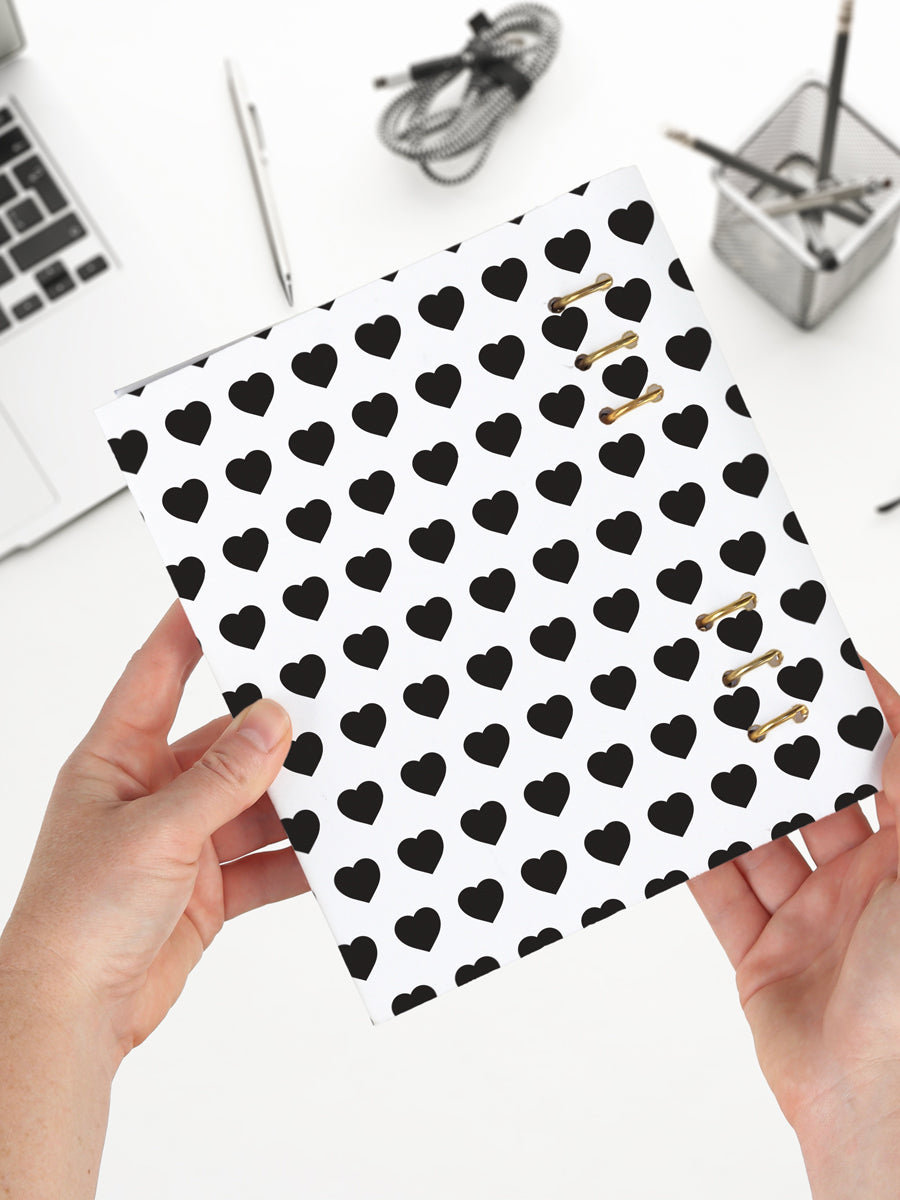 Heart Patterned Ring Notebook