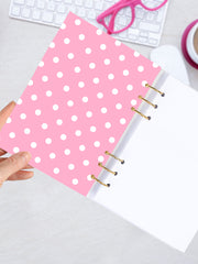 Pink Polka Dots Binder Planner 2021 - A5 Ring Notebook for Teens - 2