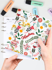 Personalized Floral Planner 2021 - Customized A5 Flower Bullet Journal - 1