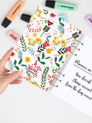 Personalized Floral Planner 2021 - Customized A5 Flower Bullet Journal - 2