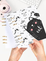 Designer Cat Lover A5 Notebook - Refillable Binder Planner 2021 - 1