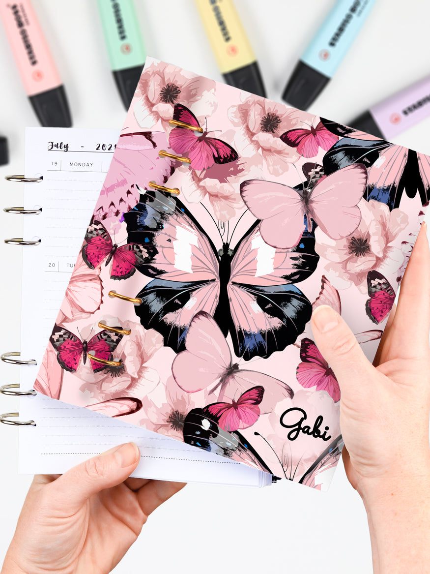 Personalized A5 Pink Butterfly Planner
