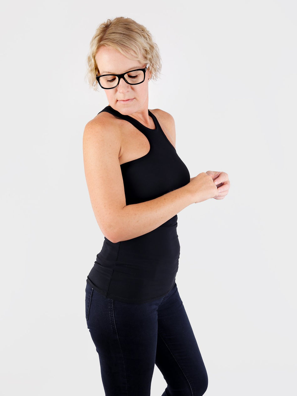 Sexy Black Racer Front Tank Top for Workout and Streetwear - 3