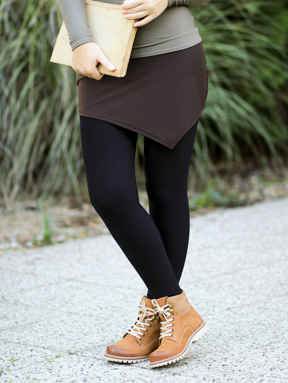 High Waisted Asymmetrical Shirt extender For Leggings - Athleisure - 2