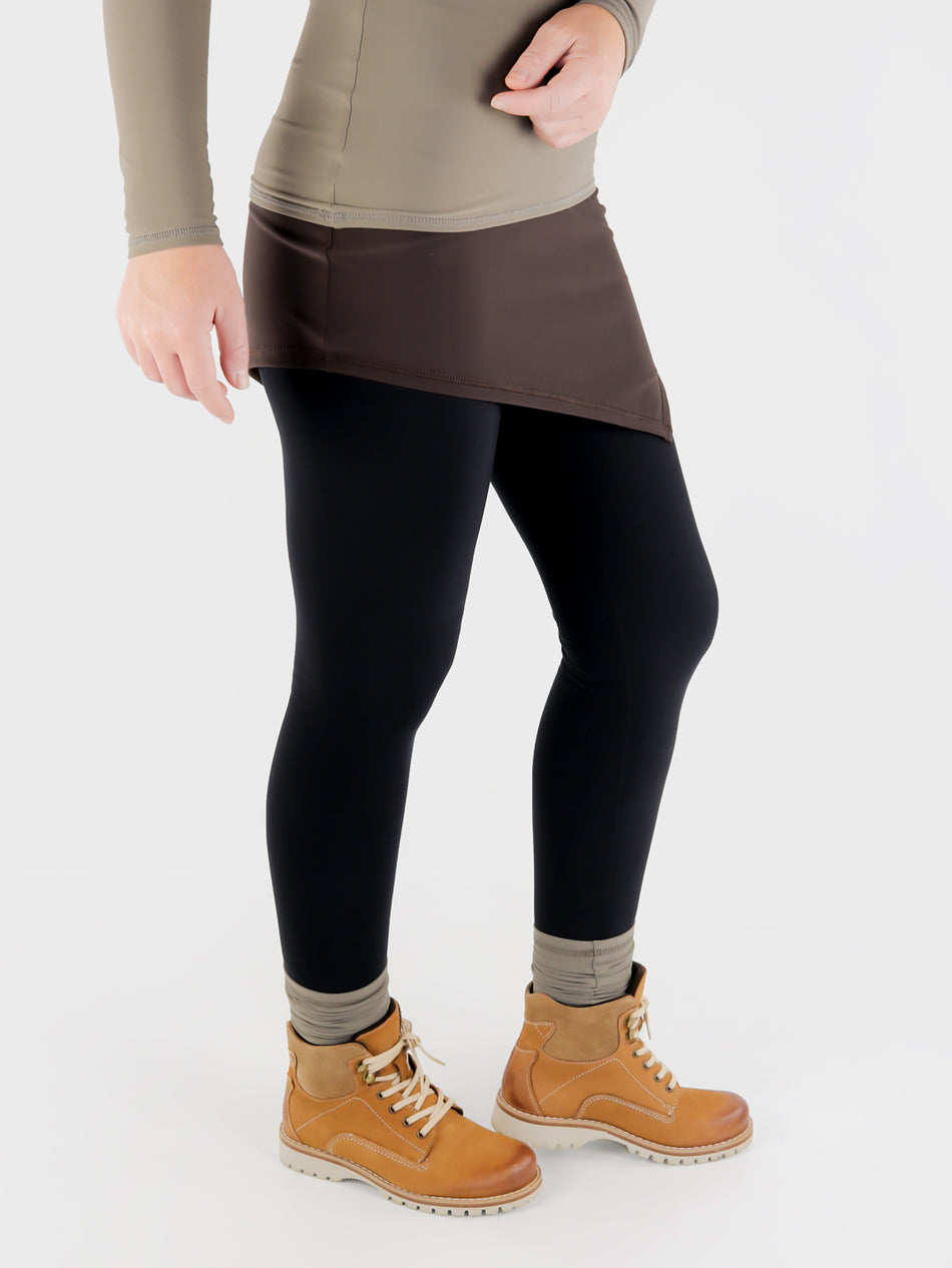 High Waisted Asymmetrical Shirt extender For Leggings - Athleisure - 8