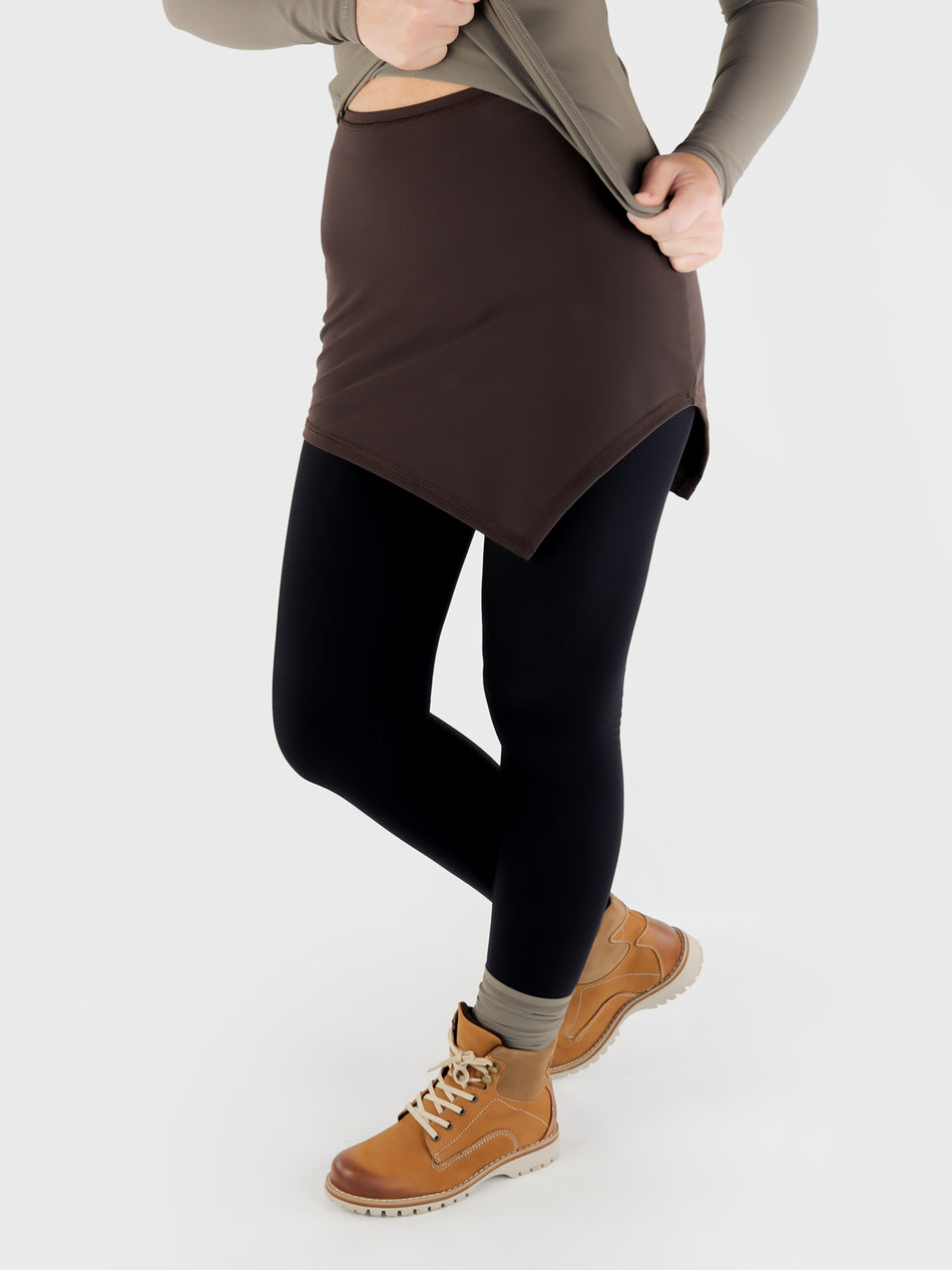 High Waisted Asymmetrical Shirt extender For Leggings - Athleisure - 4