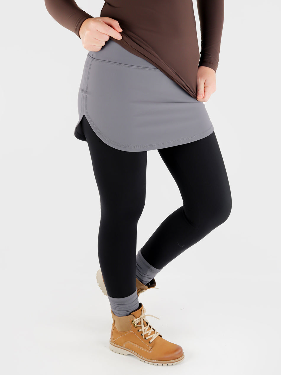 Stretch Pull On Gray T-Shirt extender Band for Pants - Layering Skirt - 10