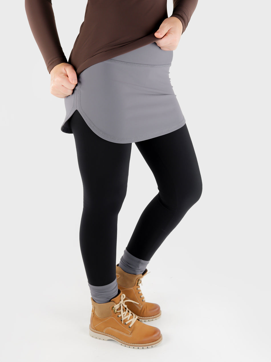 Stretch Pull On Gray T-Shirt extender Band for Pants - Layering Skirt - 11