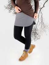 Stretch Pull On Gray T-Shirt extender Band for Pants - Layering Skirt - 1