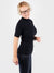 Minimalist Customized Black Short Sleeve Turtleneck Shirt- 2