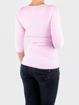Casual Basic Women's Pastel Baby Pink Cleavage Shirts and Tops - 5