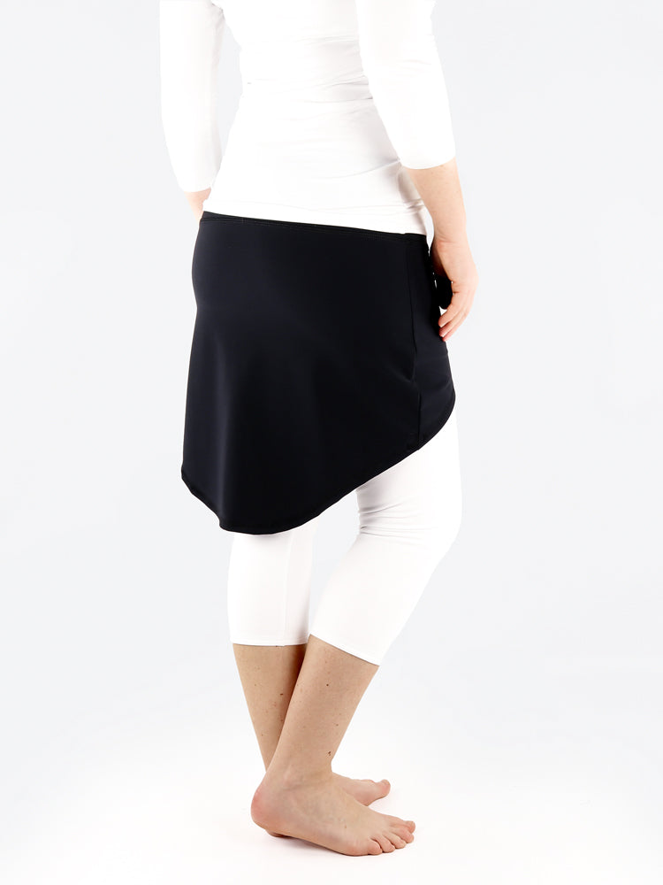 Black High-Low Leggings Skirt - Yoga Pants Cover Up - 9