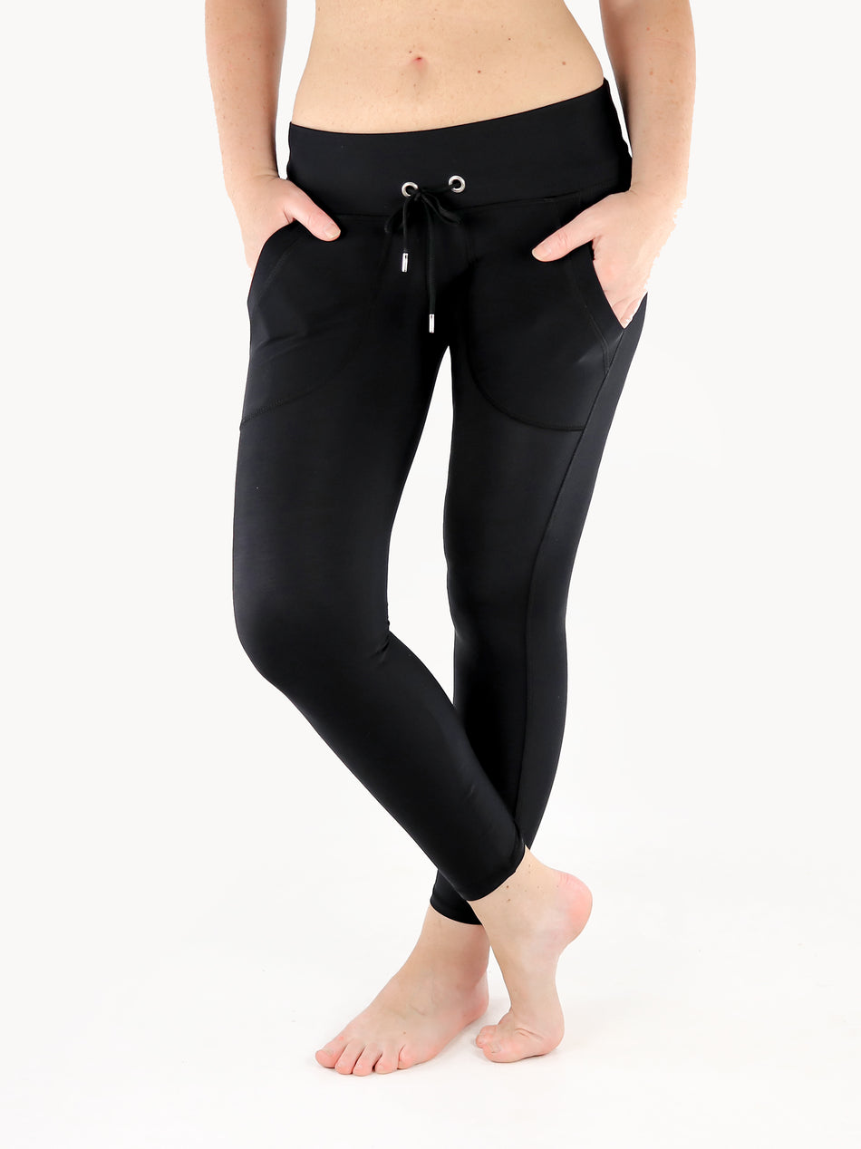 Drawstring Leggings with Front Pockets - 4