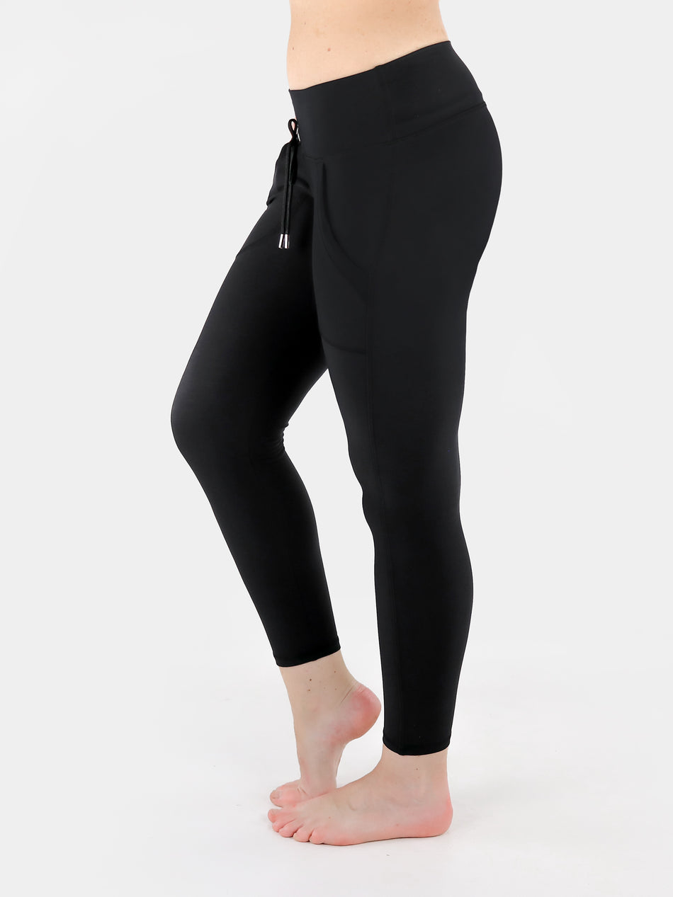 Drawstring Leggings with Front Pockets - 7