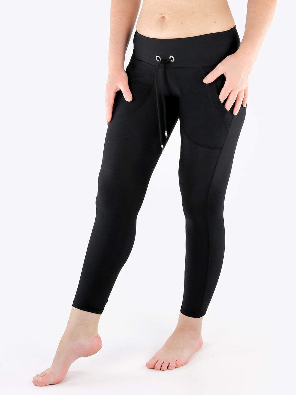 Drawstring Leggings with Front Pockets - 3