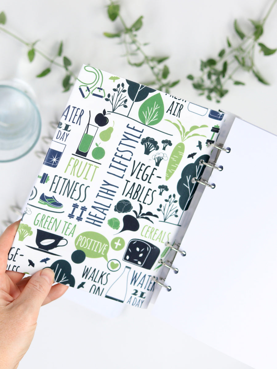 Healthy Life Fitness Planner 2021 - Designer Refillable Notebook - 2