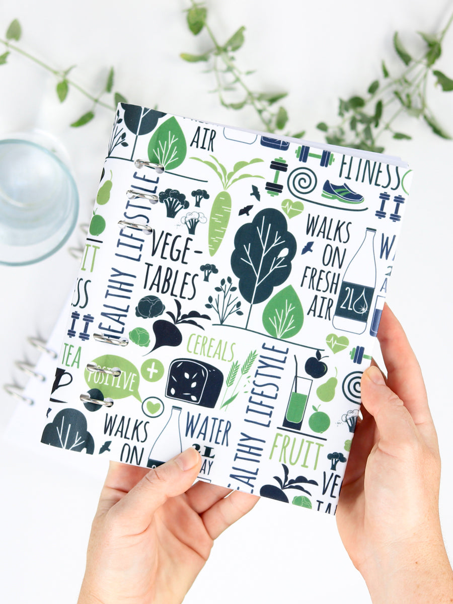 Healthy Life Fitness Planner 2021 - Designer Refillable Notebook - 1