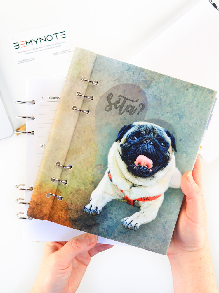 Personalized Binder Planner with Pet Photo
